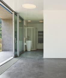 sol en beton lisse poli