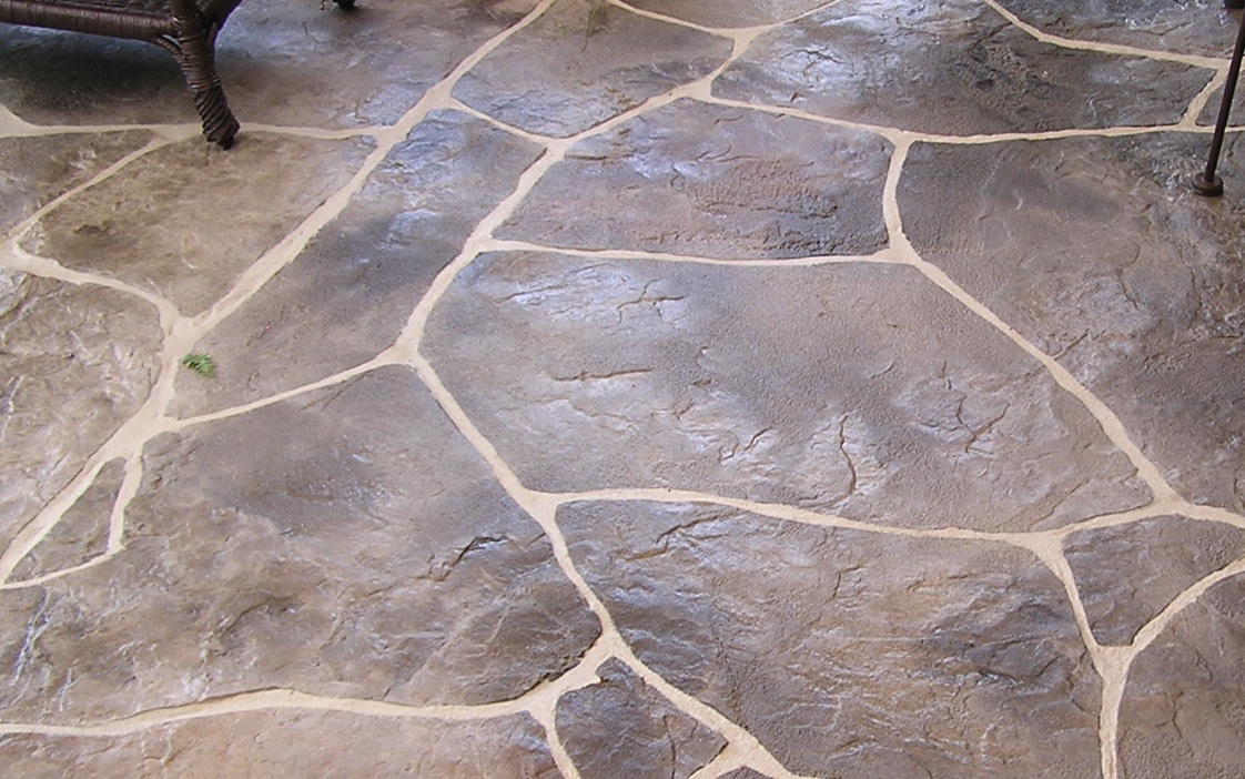 terrasse beton imprime